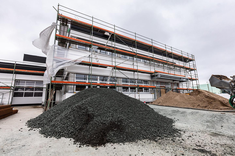 Office building construction site