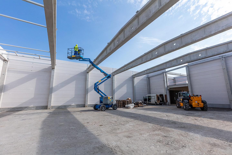 Warehouse construction worker